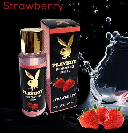 PlayBoy Herbal Lubricant Gel – Strawberry Flavour 50ml